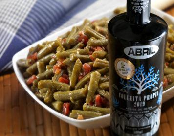 Judías verdes con aceite de oliva virgen extra Abril