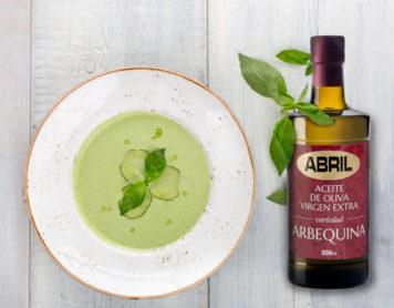 Gazpacho Verde con aceite de oliva virgen extra Arbequina